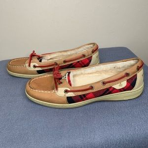 Sperry Top-Sider Angelfish Linen/Plaid Loafer 9.5M